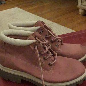 Pink women's work boot